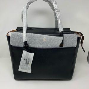Tory burch tote ladies black leather large bag